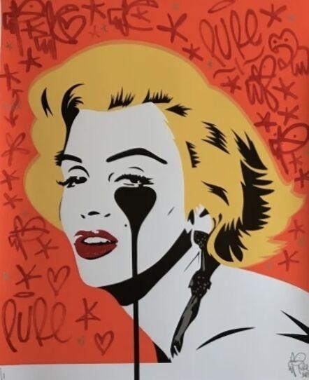Pure Evil, ' Marilyn Glam Tangerine Dream - Artist Hand Embellished', 2020