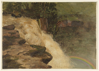 Frederic Edwin Church, 'A Waterfall in Colombia', 1853