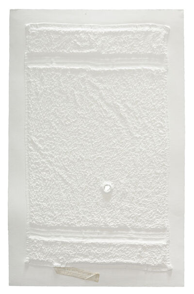 Analía Saban, 'Three Stripe Hand Towel with Hole and Unsewn Label', 2016