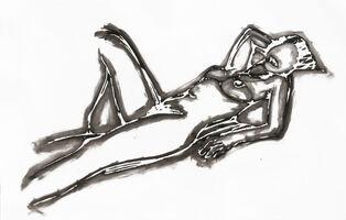 Tom Wesselmann, 'MONICA LYING DOWN ONE ARM UP', 1990
