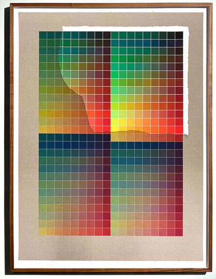 Analía Saban, 'Transcending Pigment from Paint to Canvas, from Canvas to Paint (Color) #2 No. VII', 2020