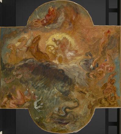 Eugène Delacroix, 'Apollo Slaying Python, Preliminary Sketch', 1850