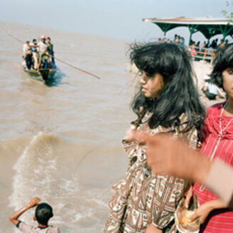 Leo Rubinfien, 'On the Breakwater at Kenceran Beach during Idul Fitri, Surabaya', 1982/ca. 1992