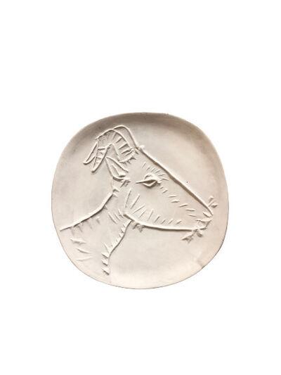 Pablo Picasso, 'Madoura Variant of Tête de chèvre de profil, Ramié 109', 1950-1959