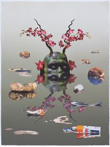 Ashley Bickerton, 'Green Reflecting Head Version No.1', 2006