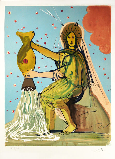 Salvador Dalí, 'Signs of the Zodiac: Aquarius', 1967