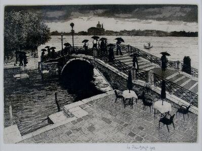 Wilfred Fairclough, 'Umbrellas on the Zattere, Venice', 1983