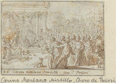 Johann Wilhelm Baur, 'Chorus of Shepherds: Carino, Montano and Mirtillo', 1640