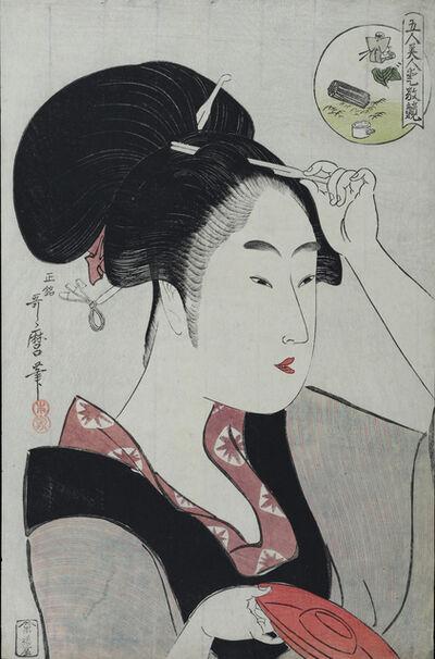 Kitagawa Utamaro, 'Waitress of the Teahouse at Shiba'