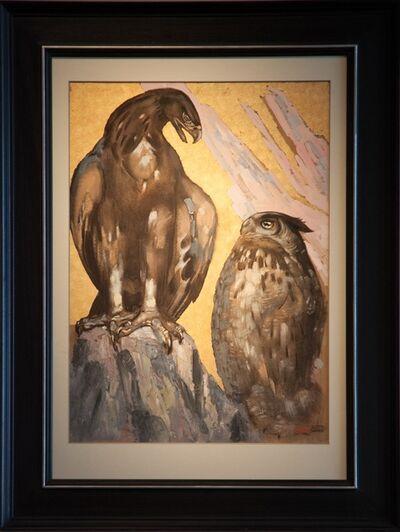 Paul Jouve, 'Eagle and Owl Eagle'
