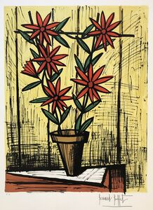 Bernard Buffet, 'Marguerites rouges (Red Daisies)', 1983