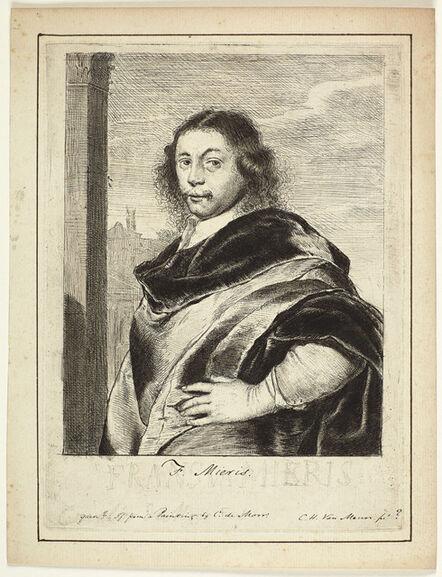 Carel De Moor, 'Portrait of the artist Frans van Mieris the Elder', ca. 1690