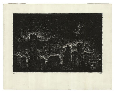 Derek Boshier, 'The Man Falling, Houston, Texas', 1984