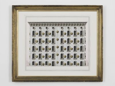 Pablo Bronstein (b. 1977), 'Pair of Houses in the Etruscan Style', 2014