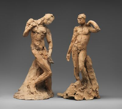 Auguste Rodin, 'Pair of Standing Nude Male Figures Demonstrating the Principles of Contrapposto according to Michelangelo and Phidias', ca. 1911