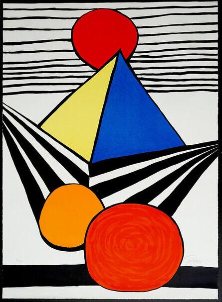 Alexander Calder, 'Pyramid and Red Sun, from La Mémoire élémentaire', 1978