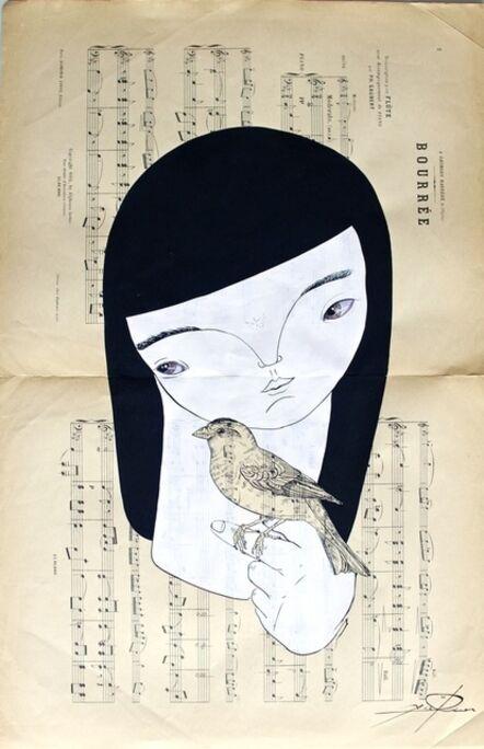 Axel Rios, 'Mujer Con Pájaro Patas de Oro', 2016