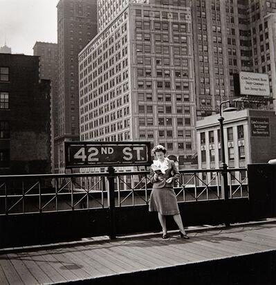 Arnold Eagle, '[New York, 42nd Street, Third Avenue El]', 1936
