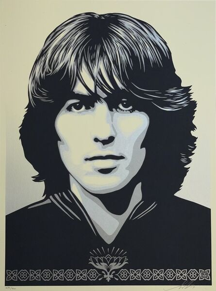 """Shepard Fairey, '""""Poster For George Harrison"""" Shepard Fairey Silkscreen Print Obey The Beatles Contemporary ', 2014"""
