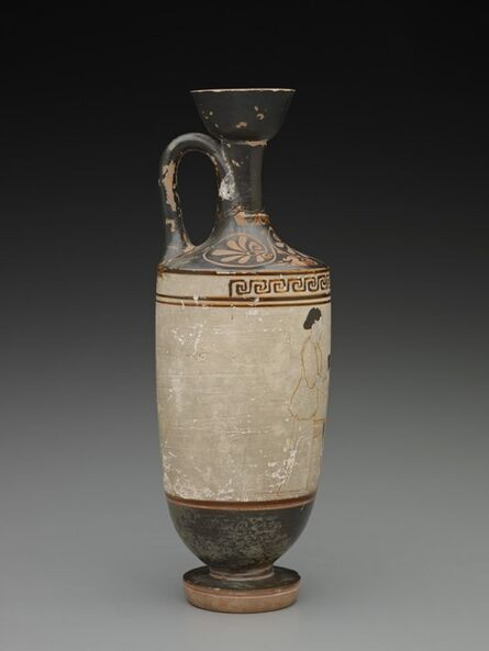 'White-Ground Lekythos: Mistress and Servant', ca. 450-460 BCE