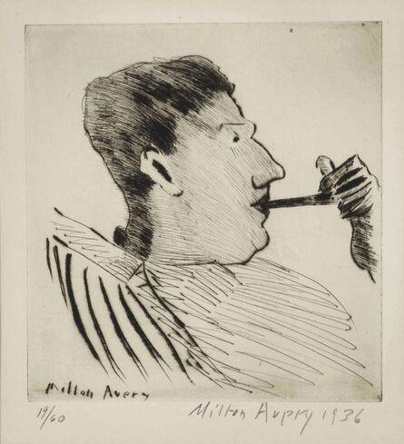Milton Avery, 'Rothko with Pipe', 1936