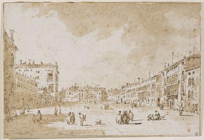Francesco Guardi, 'View of Campo S. Polo', 1790