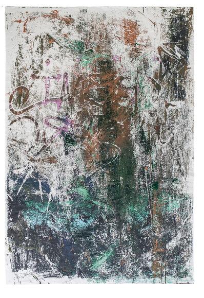 José Parlá, 'One: Union of the Senses Abstract MonoTransfer D', 2014