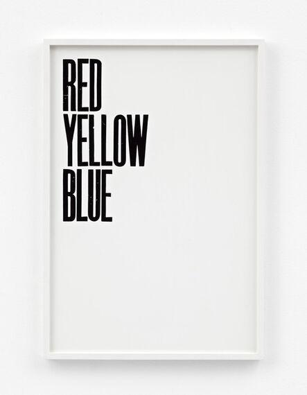 Pavel Büchler, 'Honest Work (Red)', 2011