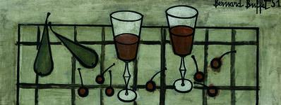 Bernard Buffet, 'Verres et Fruits', 1951