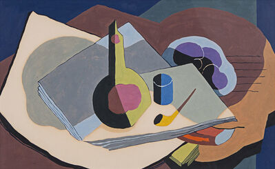 Kenneth Stubbs, 'Still Life with Pipe and Bottle', 1934