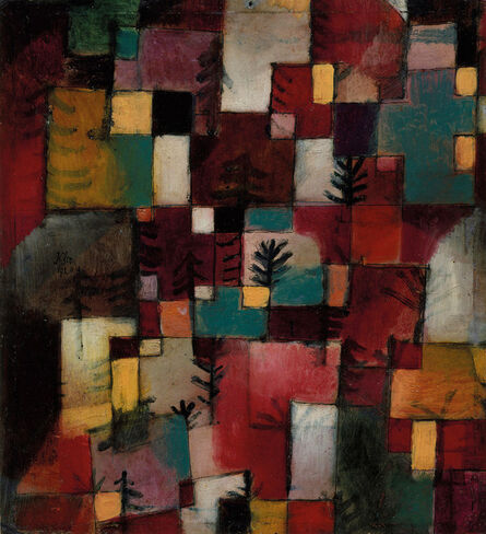 Paul Klee, 'Redgreen and Violet-Yellow Rhythms', 1920