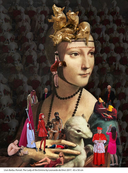 Lluis Barba, 'La Dama del Armiño de Leonardo da Vinci', 2017