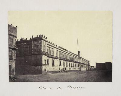 Claude Joseph Désiré Charnay, 'Palacio de Mexico', 1858