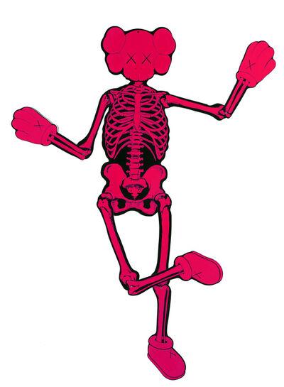 KAWS, 'Pink Companion Skeleton', 2007