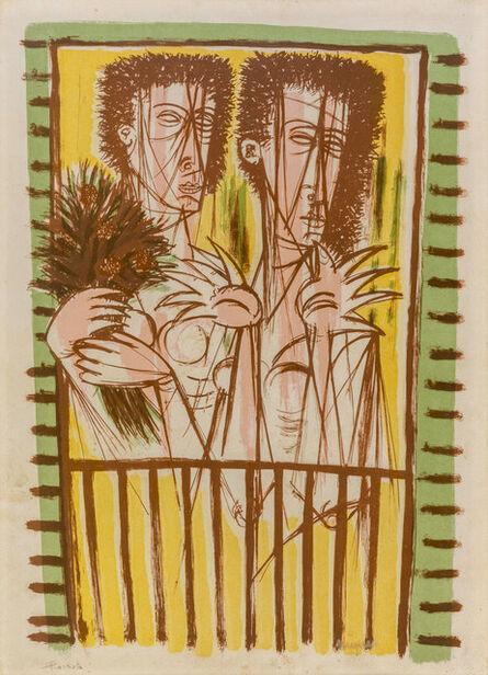 Giuseppe Migneco, 'Donne al balcone', 1960