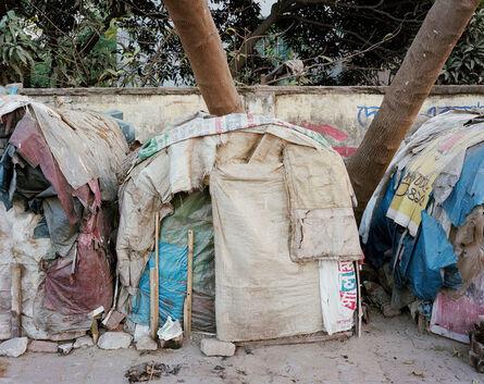 Noah Addis, 'Sidewalk Home #1; Atish Dipankar Road, Khilgaon, Dhaka.', 2013