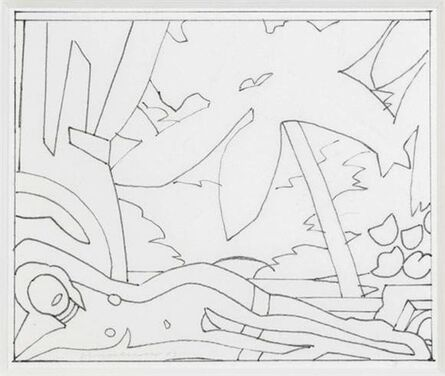 Tom Wesselmann, 'Sunset nude with big palm tree (study)', 2003