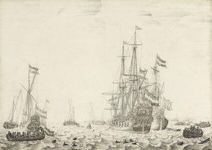 Willem van de Velde the Elder, 'Dutch Ships near the Coast', early 1650s