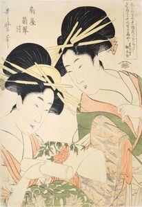 Kitagawa Utamaro, 'Courtesan Hisui from Ogiya', 1798