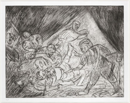 Leon Kossoff, 'From Rembrandt 'The Blinding of Samson'', ca. 1990s