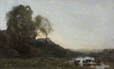 Jean-Baptiste-Camille Corot, 'Le Gué aux Cinq Vaches (The Ford with Five Cows)', ca. 1865