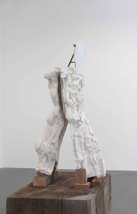 Thomas Houseago, 'Yet to be titled (Walking boy on plinth)', 2013