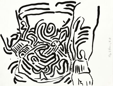 Keith Haring, 'Untitled, from Bad Boys (Littmann p. 58)', 1986