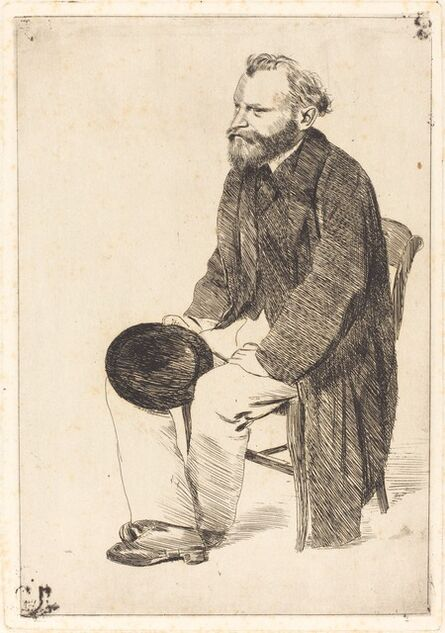 Edgar Degas, 'Manet Seated, Turned to the Left (Manet assis, tourné à gauche)', ca. 1861