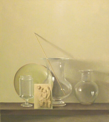 Raymond Han, 'Still Life with Three Glass Vases and Green Plate', 1999