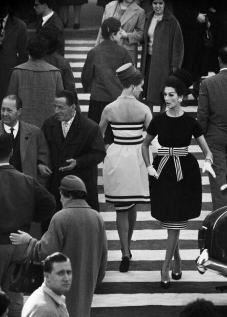 William Klein, 'Simone + Nina. Piazza di Spagna NR.2. Rome (Vogue)', 1960
