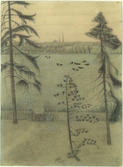 Ewald Mataré, 'Near cloister Eberbach in Rheingau', 1945