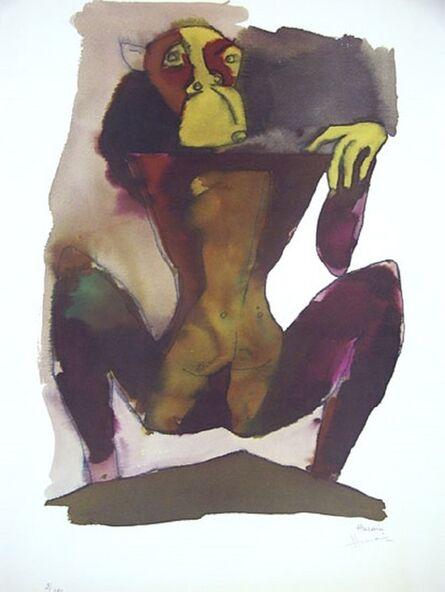 Maqbool Fida Husain, 'Hanuman on Mountain'