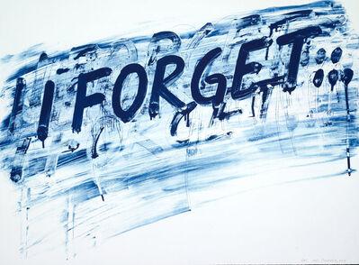 Mel Bochner, 'I Forget', 2014