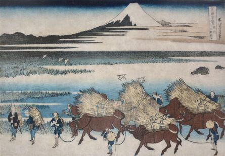Katsushika Hokusai, 'New Rice Field at Ono in Suruga Province', ca. 1830
